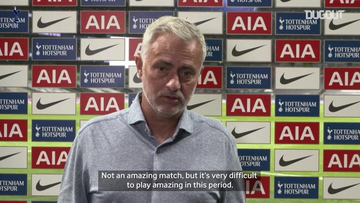 Mourinho reserves praise for Tottenham defence