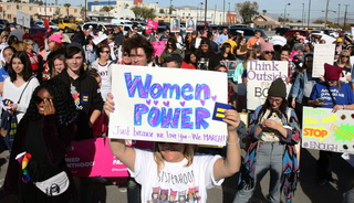 The third annual Women's March in Las Vegas