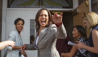 Kamala Harris speaks at Victory Missionary Baptist Church