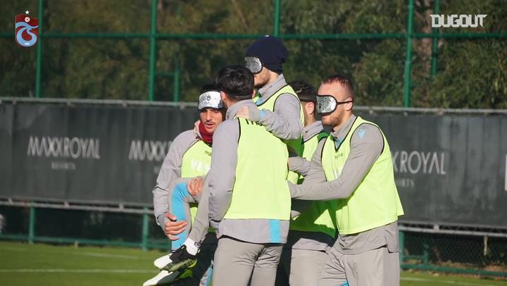 Trabzonspor'un Antrenmanında Eğlenceli Dakikalar