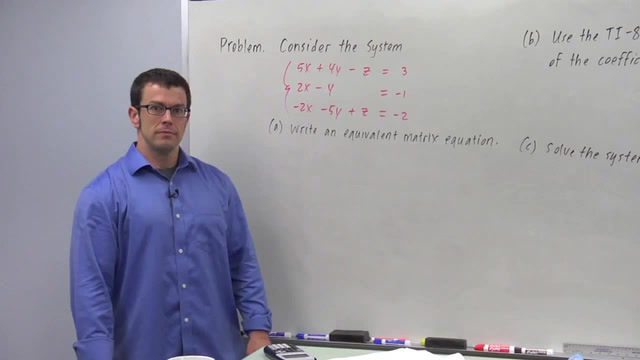 Solving Linear Systems Using Matrix Algebra - Problem 3