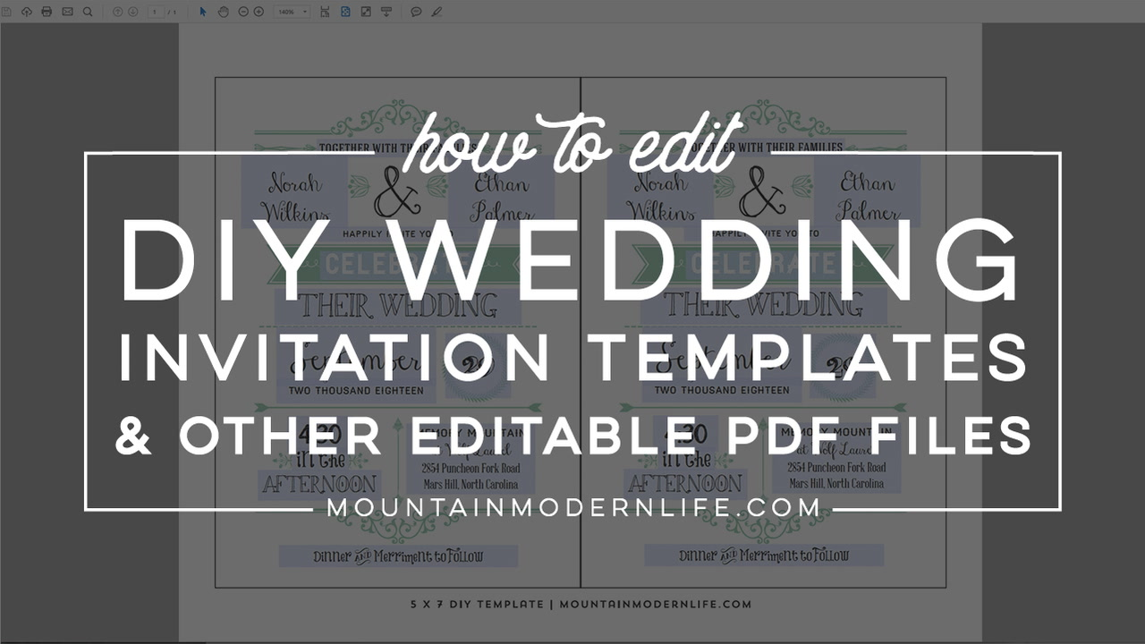 How to Edit DIY Invitation Templates | Mountain Modern Life