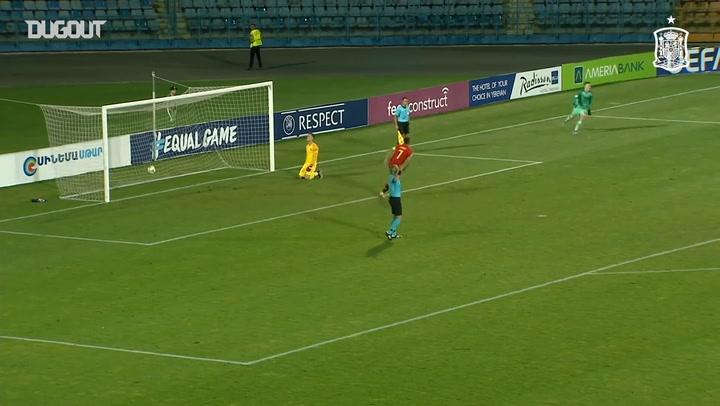 Ferrán Torres' decisive penalty for Spain U19s