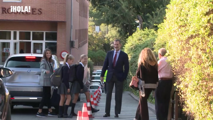La princesa Leonor y la Infanta Sofía vuelven al colegio