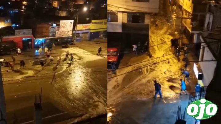 Alarma en Huarochirí: huaico tras fuerte lluvia alertó a vecinos