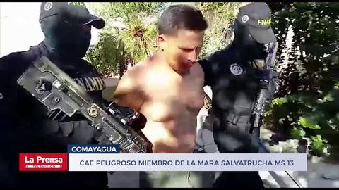 Cae peligroso miembro de la Mara Salvatrucha MS 13 en el barrio Lourdes en Comayagua