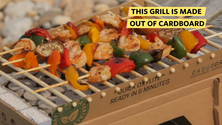 This Grill Is Made Out Of Cardboard