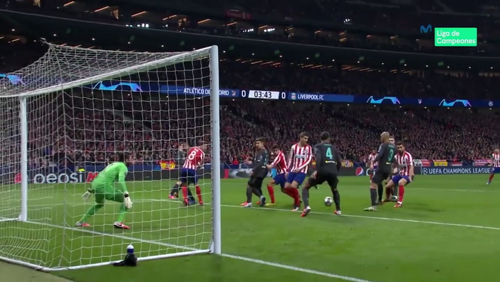 Champions League. Atlético Madrid - Liverpool. Gol De Saúl 1-0