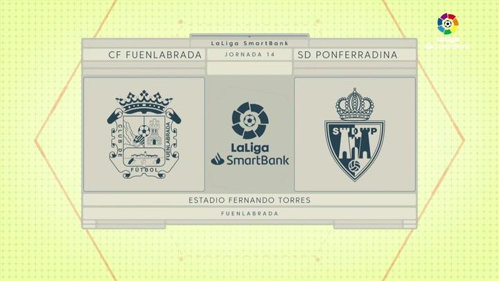 LaLiga SmartBank (J14): Resumen y goles del Fuenlabrada 1-1 Ponferradina