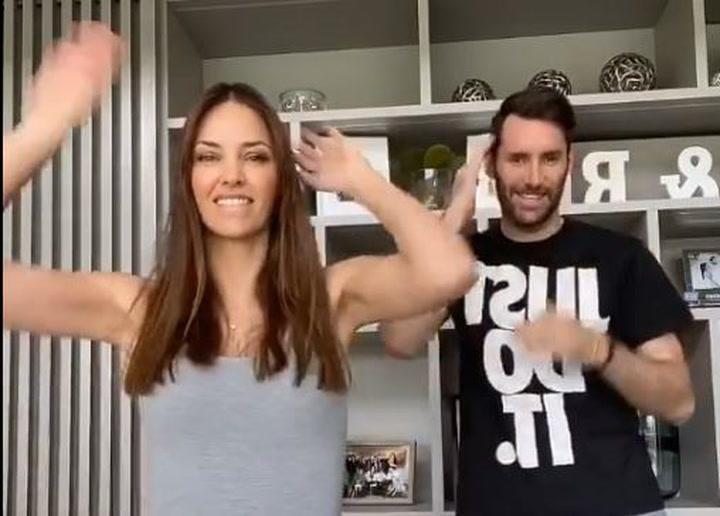 Helen Lindes convence a Rudy Fernández para un bailecito