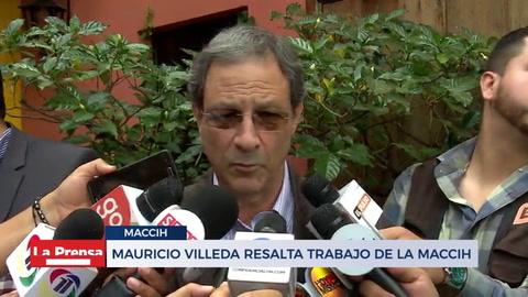 Mauricio villeda resalta trabajo de la MaACCIH