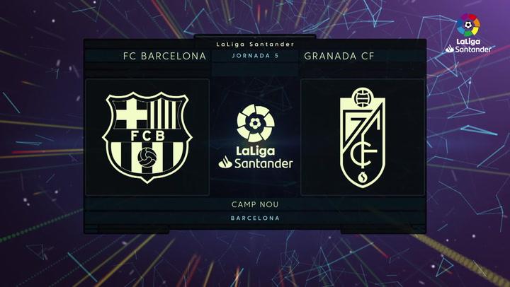 LaLiga (J5): Resumen y goles del Barcelona 1-1 Granada