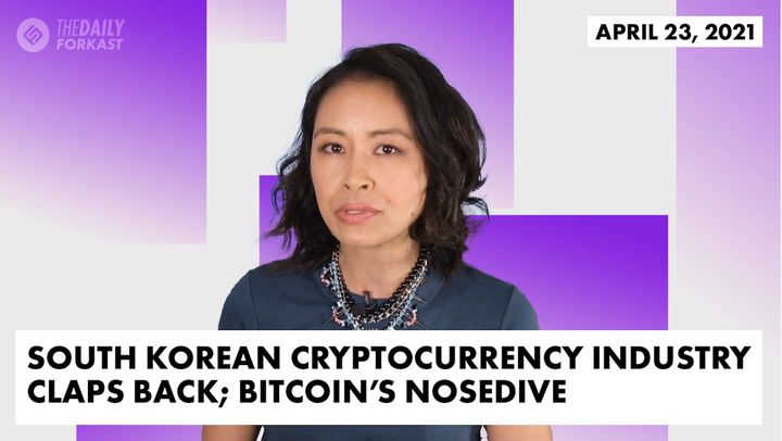 South Korean Cryptocurrency Industry Claps Back; Bitcoin's Nosedive