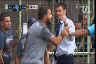 La polémica provocación de Rafael Canovas tras expulsión en el Marathón vs Real España