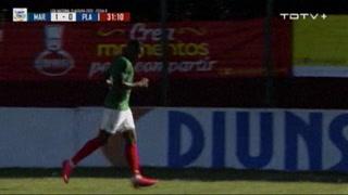 Yerson Gutiérrez anota el 2 - 0 de Marathón ante Platense