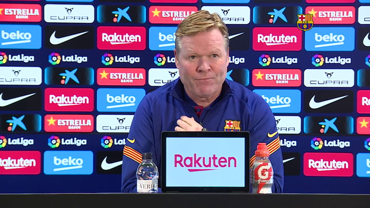 La rueda de prensa de Ronal Koeman previa al Barça-Elche (completa)