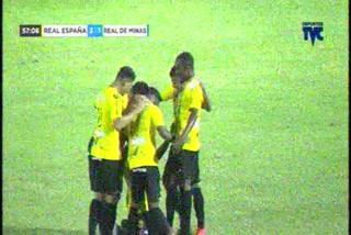 ¡Gol de Real España! Franklin Flores hace el 3-1 ante Real de Minas