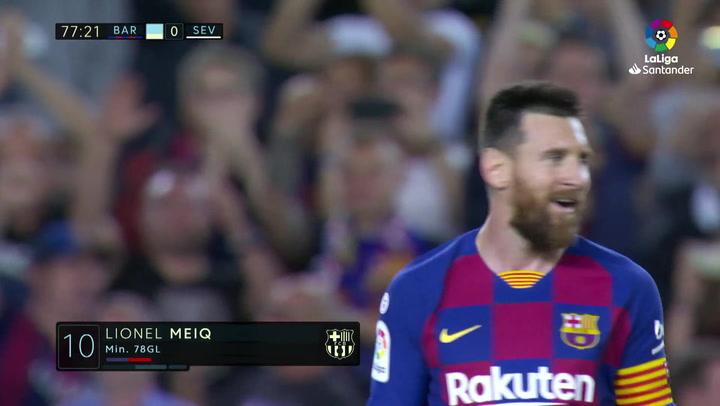 Gol de Messi (4-0) en el Barcelona 4-0 Sevilla