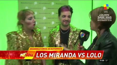 Insólita reacción de los Miranda cuando les preguntaron por Lolo