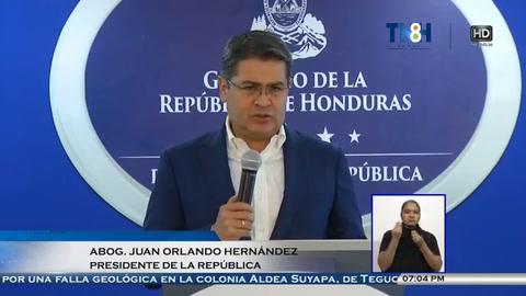 Conferencia de prensa del presidente Juan Orlando Hernández