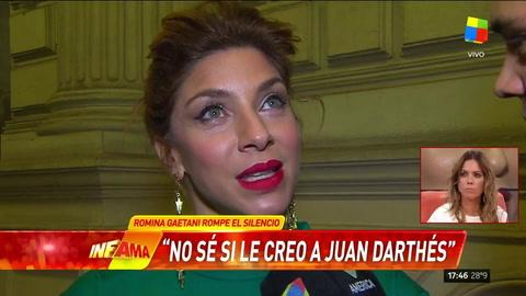 Romina Gaetani sembró dudas sobre Juan Darthés