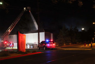 Fireworks might be cause of apartment fire