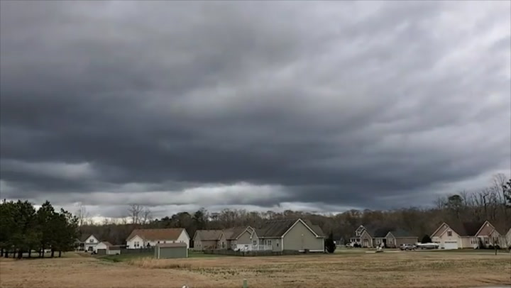 Watch a front pass over a North Carolina neighborhood in super speed