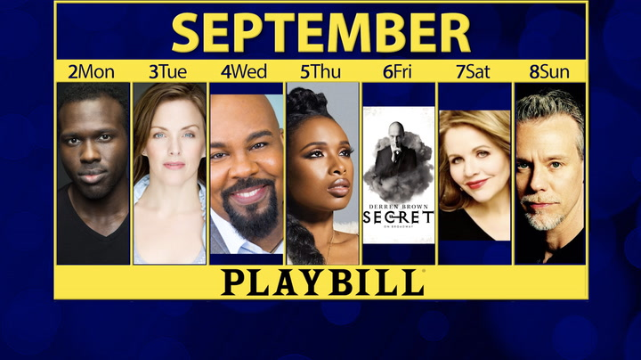 Playbill Calendar: Your Guide to Broadway, Off-Broadway and More September 2-8