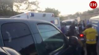 Una persona resulta herida tras triple colisión frente a Unitec