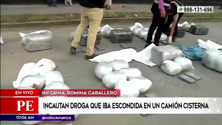 Intervienen camión cisterna con cargamento de droga en el Callao