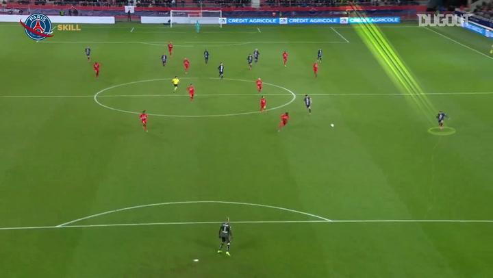 Kylian Mbappé's pinpoint pass assists Pablo Sarabia vs Dijon FCO