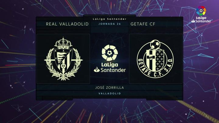LaLiga (J26): Resumen y goles del Valladolid 2-1 Getafe