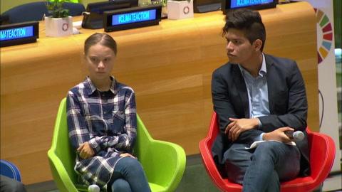 Jóvenes se movilizan por el clima en inédita cumbre en la ONU