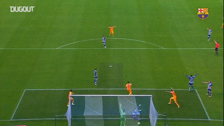 Luis Suarez scores four as Barça beat Deportivo La Coruña 8-0
