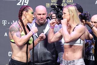 UFC 219 ceremonial weigh-in staredowns
