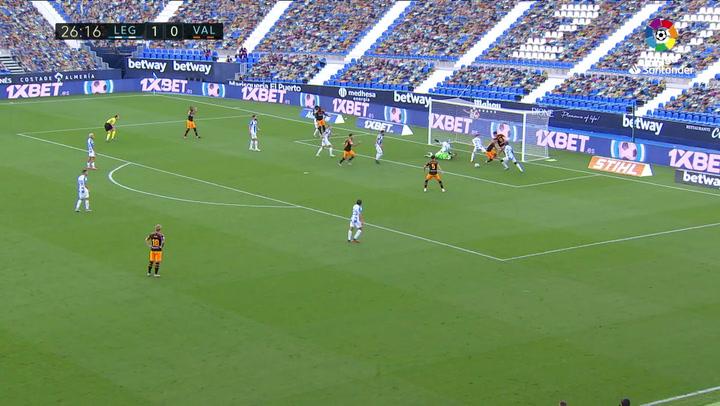 Así fue el partido que hizo Cuéllar ante el Valencia