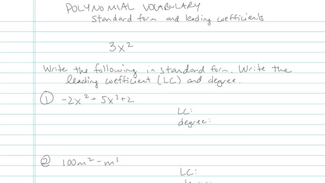 Polynomial Vocabulary - Problem 3