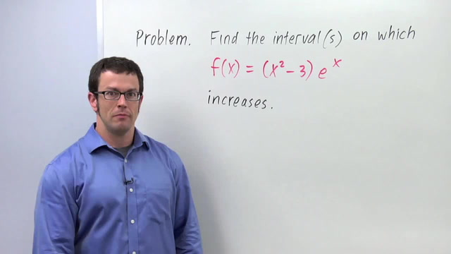 Intervals of Increase and Decrease - Problem 3