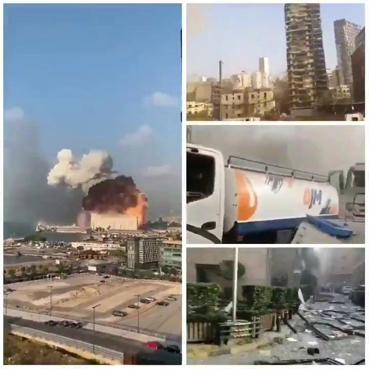 Así se ha visto la tremenda explosión de Beirut a pie de calle