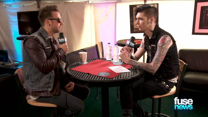 Bullet For My Valentine and Black Veil Brides Interview Each Other for Fuse News