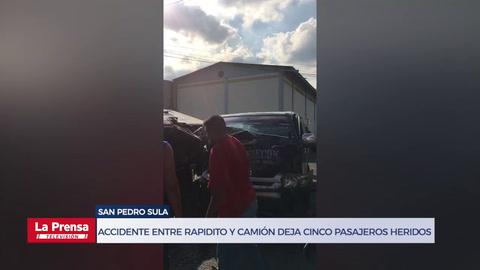 Accidente entre rapidito y camión deja cinco pasajeros heridos
