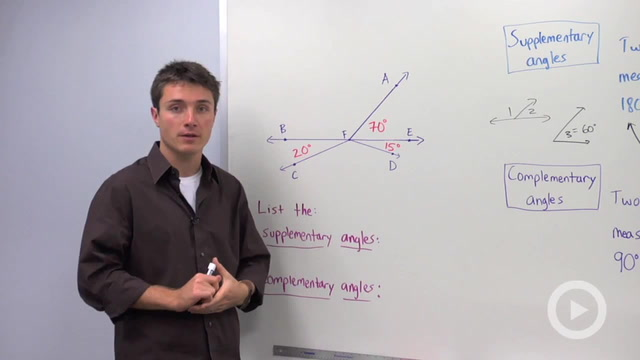Supplementary and Complementary Angles - Problem 1