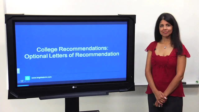 Do I need Optional Letters of Recommendation? Who?