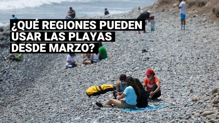 ¿Cuáles son las regiones que pueden usar las playas y qué medidas deben seguir?