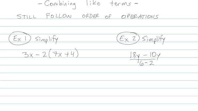 Simplifying Expressions and Combining Like Terms - Problem 7