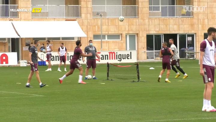 Villarreal's football tennis games in training