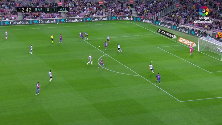 Gol de Ansu Fati (1-1) en el Barcelona 3-1 Valencia