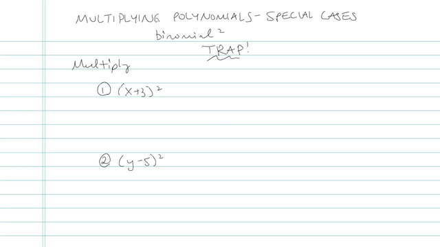 Multiplying Polynomials: Special Cases - Problem 5