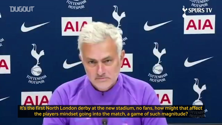 Jose Mourinho looks ahead to the visit of Arsenal