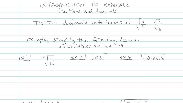 Introduction to Radicals - Problem 6